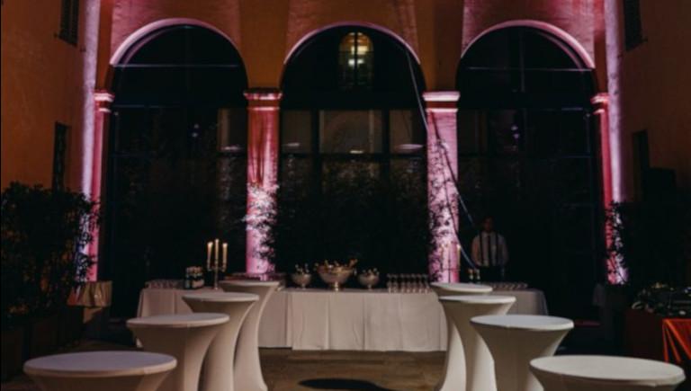palazzo magnani cortile interno evento